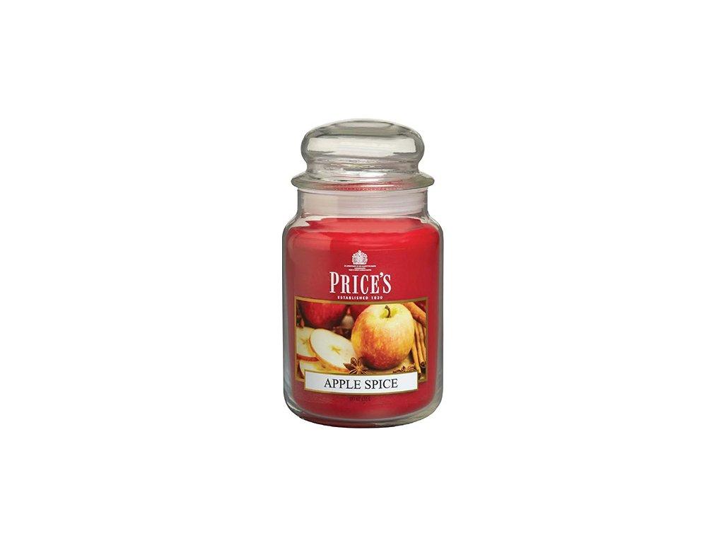 Svíčka ve skleněné dóze Price´s Candles Pikantní jablko 630 g