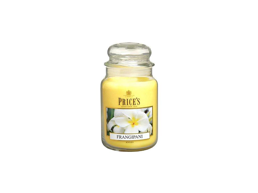 Svíčka ve skleněné dóze Price´s Candles Plumérie 630 g