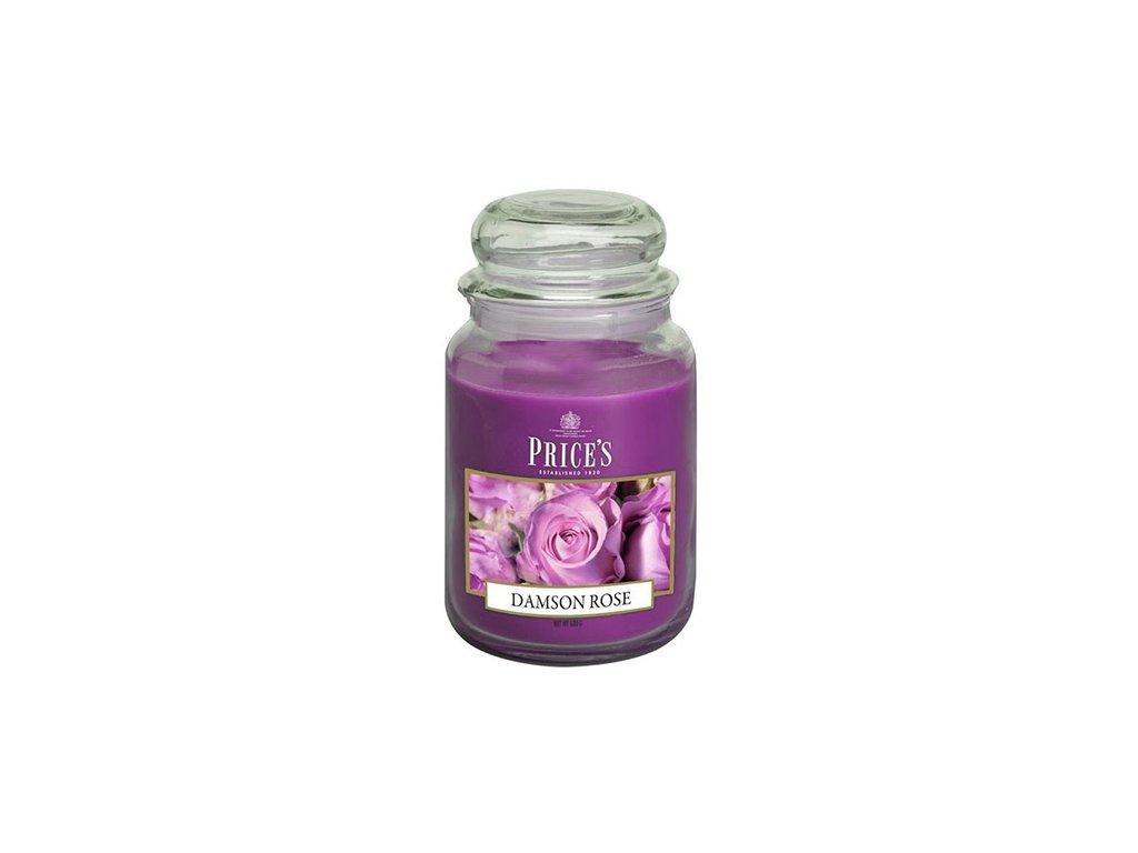 Svíčka ve skleněné dóze Price´s Candles Růže 630 g