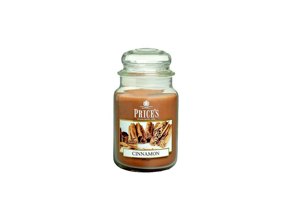 Svíčka ve skleněné dóze Price´s Candles Skořice 630 g
