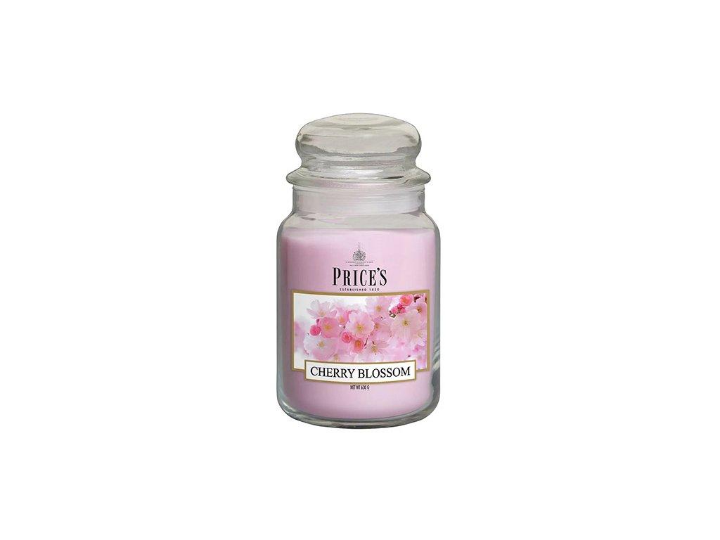 Svíčka ve skleněné dóze Price´s Candles Třešňový květ 630 g