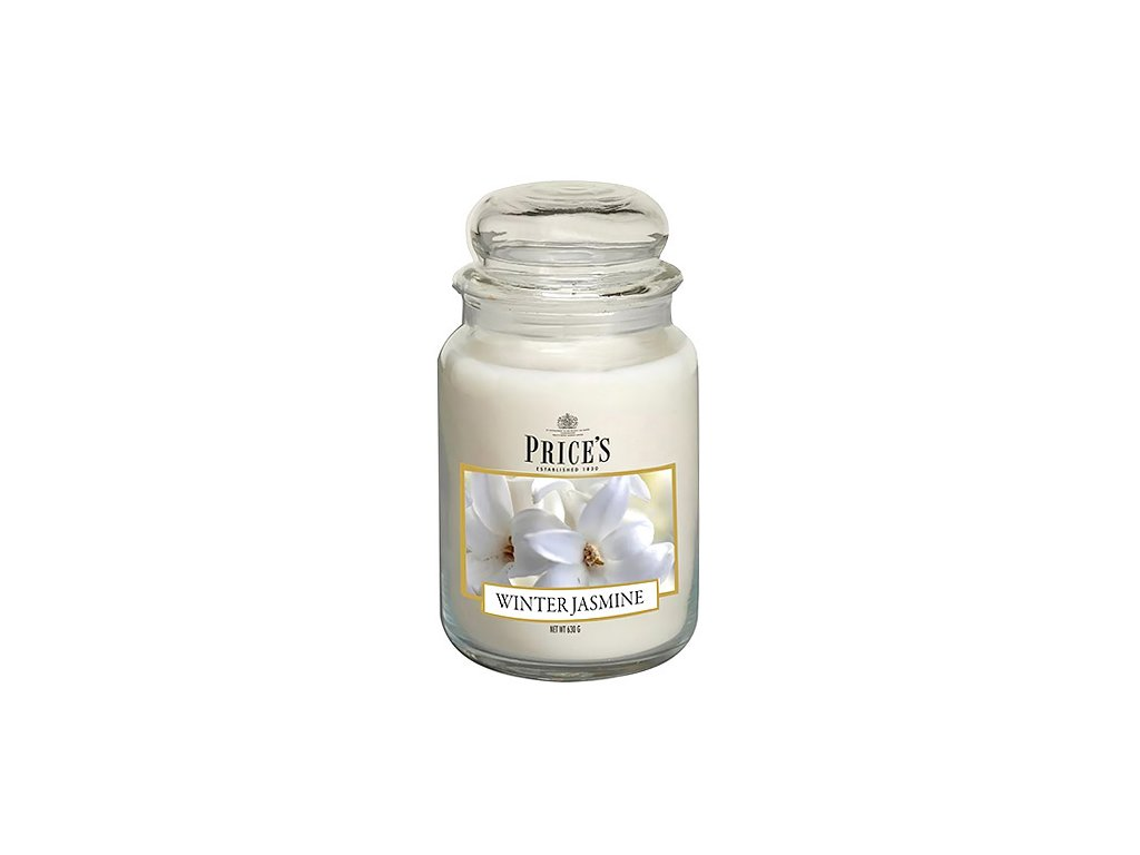 Svíčka ve skleněné dóze Price´s Candles Zimní jasmín 630 g