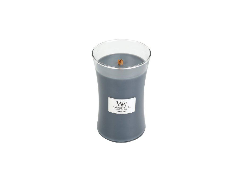 Svíčka oválná váza WoodWick Večerní onyx 609.5 g
