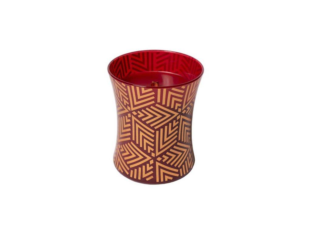 Svíčka oválná váza Červená jeřabina sváteční, 275 g