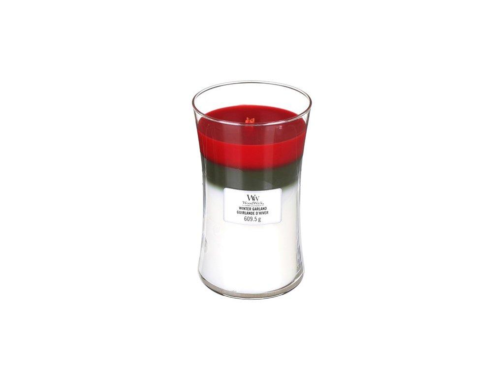 Svíčka Trilogy Woodwick 609.5 g Zimní girlanda