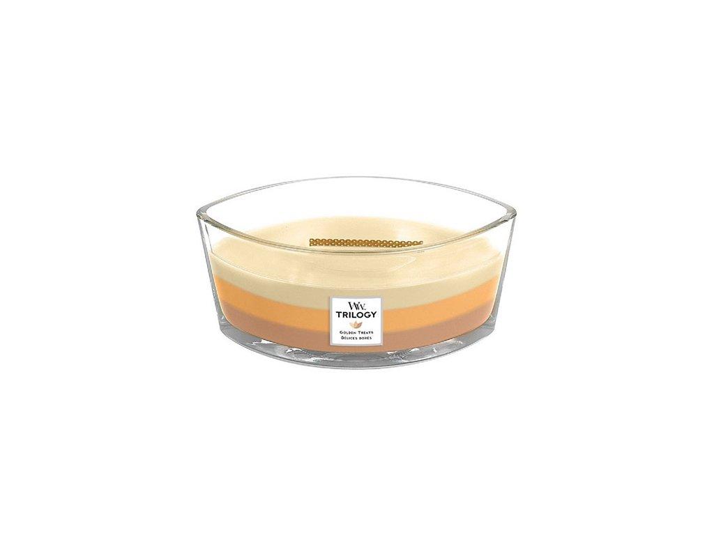 Svíčka Trilogy WoodWick Zlaté lahůdky 453,6 g