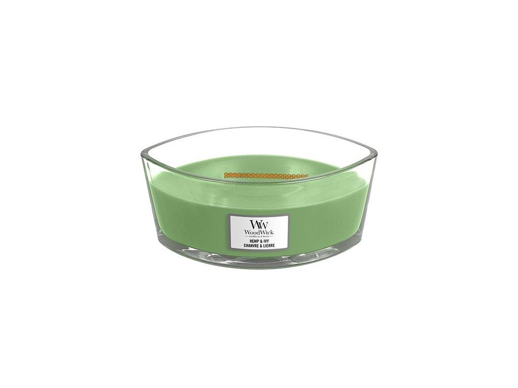 Svíčka dekorativní váza WoodWick Konopí a břečťan 453.6 g