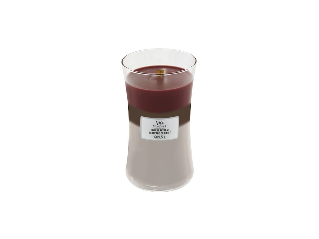 Svíčka Trilogy WoodWick Únik do lesa, 609.5 g
