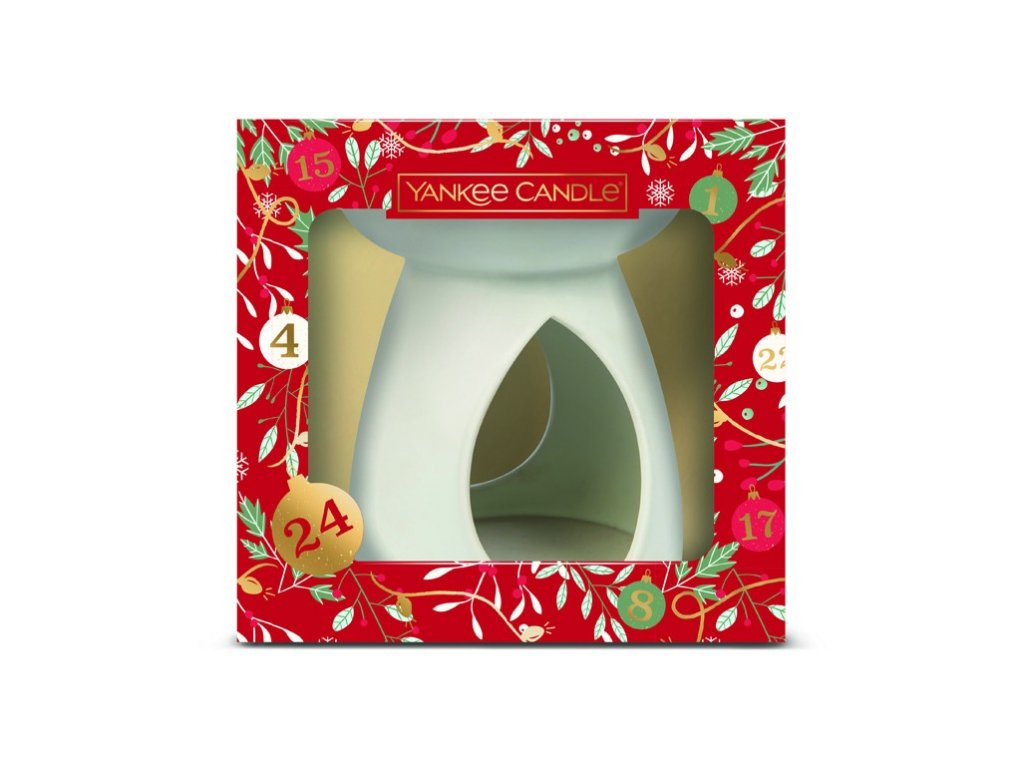 Yankee Candle dárková sada vánoční vonný vosk 3 ks s aromalampou