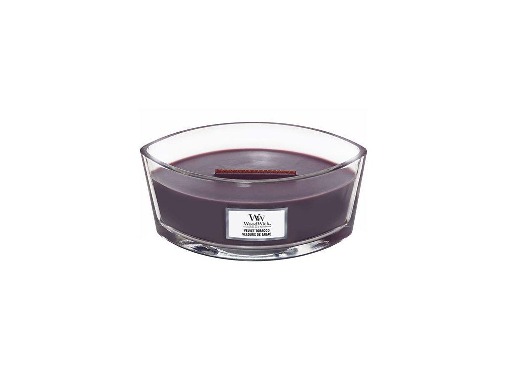 Svíčka dekorativní váza WoodWick Sametový tabák 453.6 g