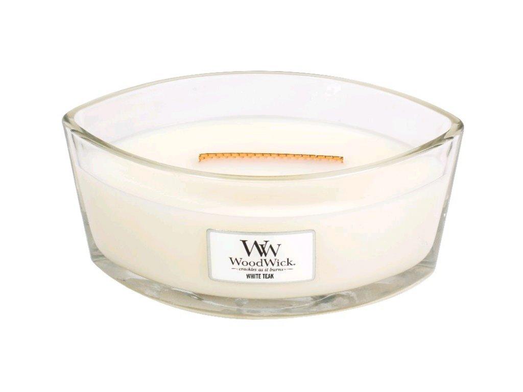Svíčka dekorativní váza WoodWick Bílý teak 453.6 g