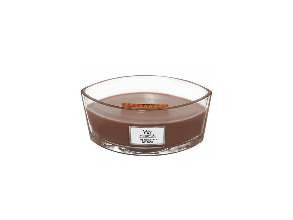 Svíčka dekorativní váza WoodWick Semiš 453.6 g