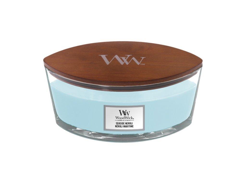 Svíčka dekorativní váza WoodWick Seaside Neroli 453.6 g