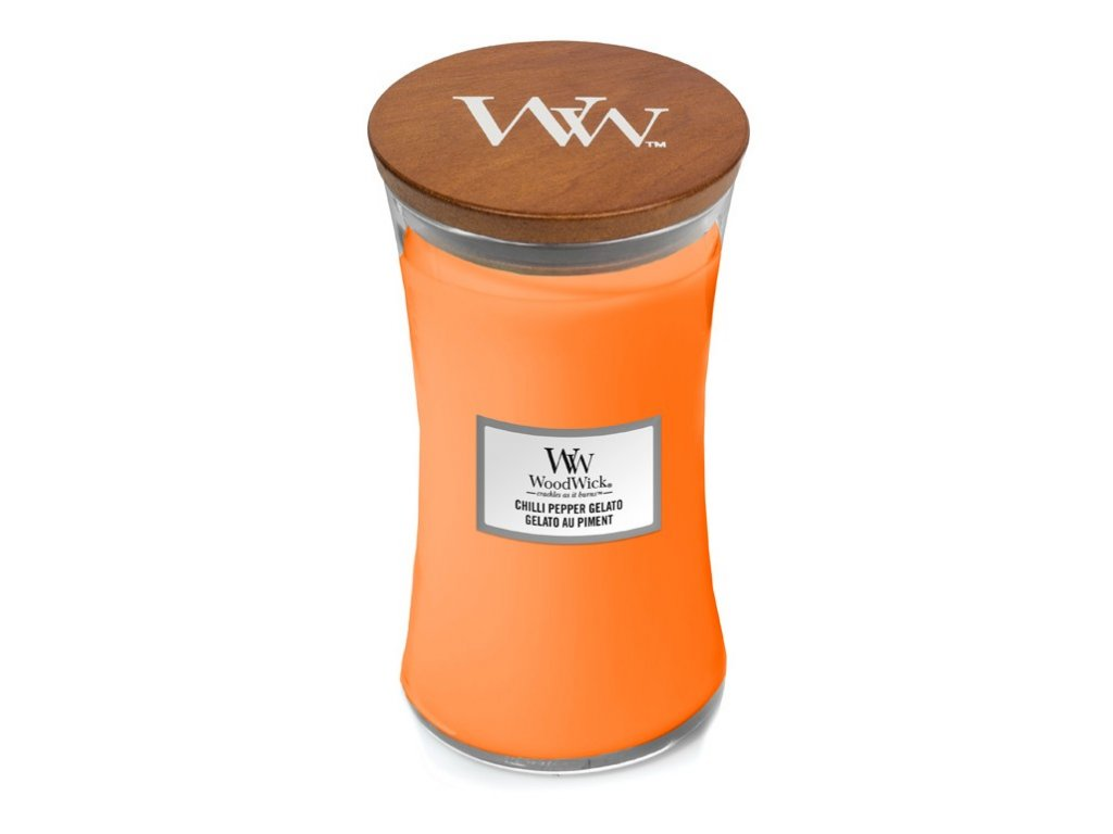 Svíčka oválná váza WoodWick Chilli pepper gelato 609.5 g