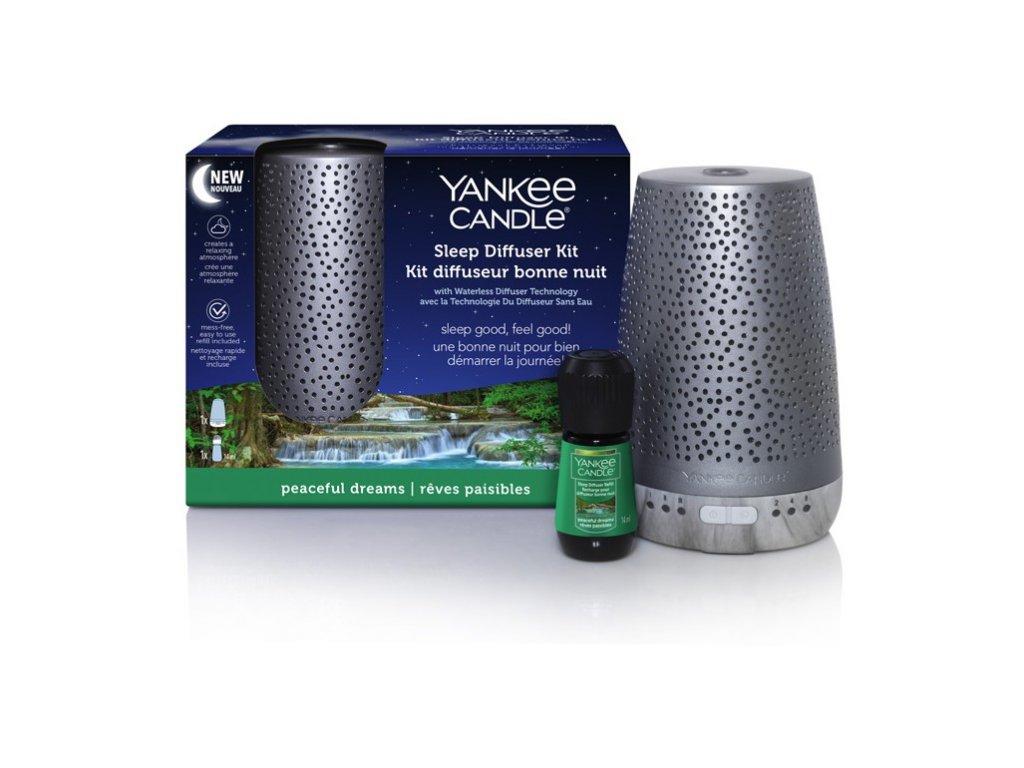 Yankee Candle elektrický difuzér pro klidný spánek stříbrný