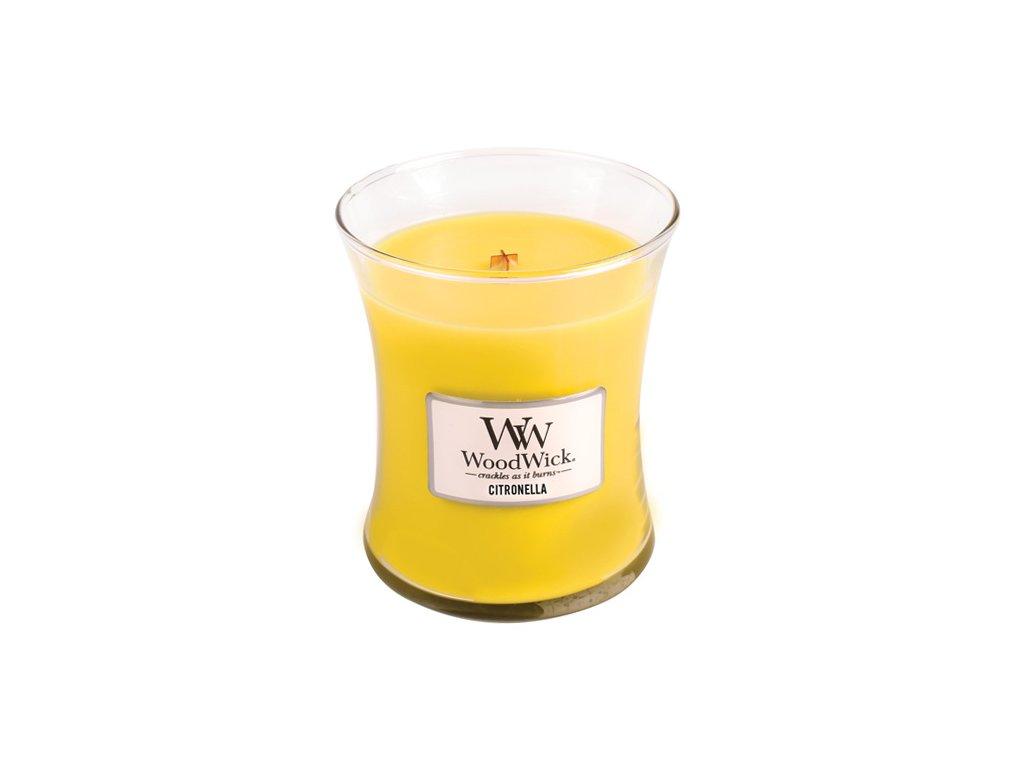 Svíčka oválná váza WoodWick Citronella 275 g