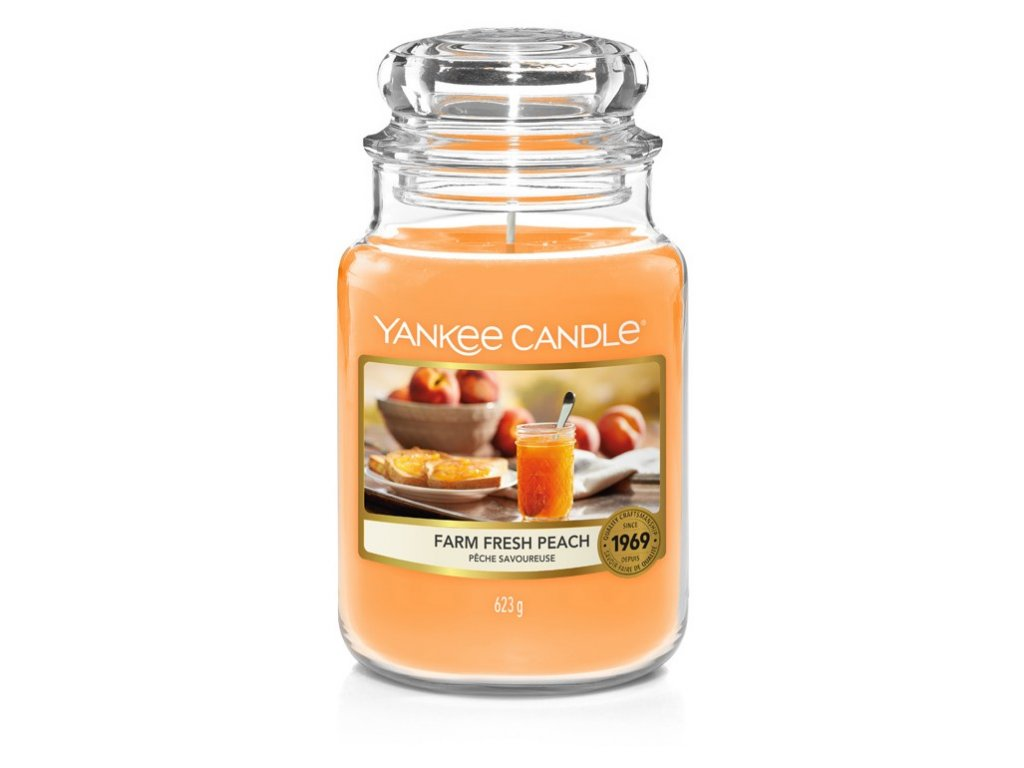 Yankee Candle Farm fresh peach, 623 g classic velký