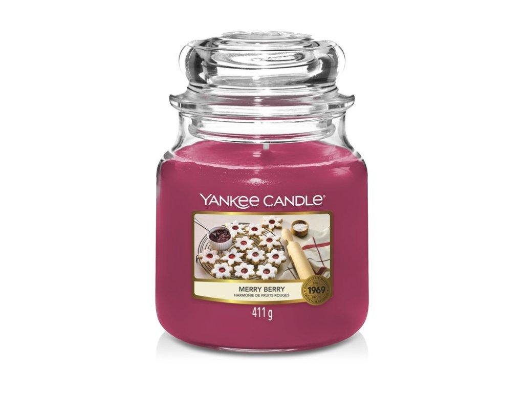 Yankee Candle Merry berry Linecké cukroví, 410 g classic střední