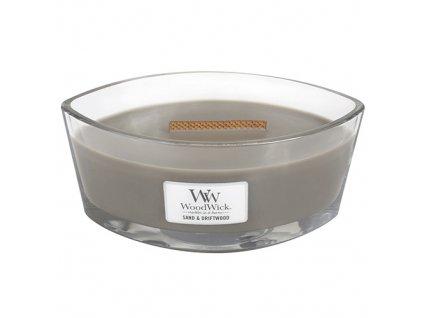 Svíčka WoodWick písek a naplavené dřevo, 453.6 g