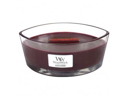 Vonná svíčka WoodWick Černá třešeň Black Cherry 453,6 g