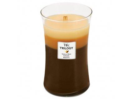 Svíčka Trilogy WoodWick dezert v kavárně, 609.5 g