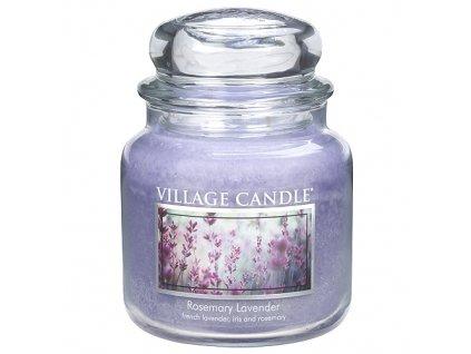 Svíčka Village Candle 454g, rozmarýn a levandule