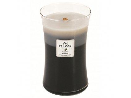 Svíčka Trilogy WoodWick Hřejivé dřevo 609.5 g