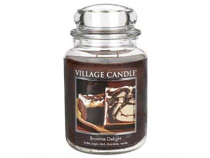 Svíčka Village Candle 737g, Čokoládový dortík