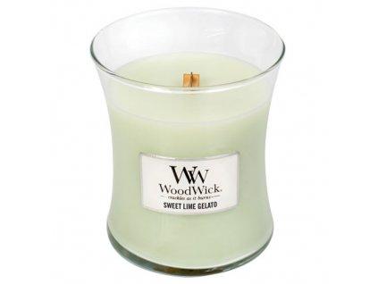 Svíčka oválná váza WoodWick sladká zmrzlina 275 g