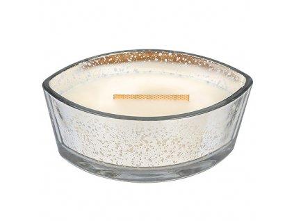 Svíčka WoodWick dekorativní váza Hřejivá vlna sváteční, 453.6 g