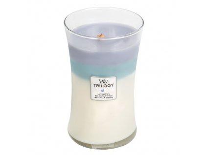 Svíčka Trilogy WoodWick 609.5 g Uklidňující zátiší