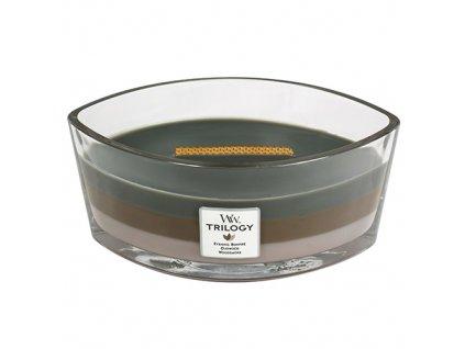 Svíčka dekorativní váza WoodWick Útulný srub 453,6 g
