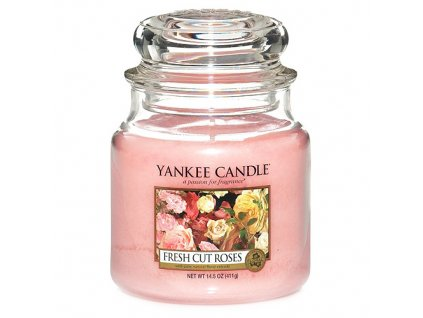 Yankee Candle Čerstvě nařezané růže, 410 g classic střední