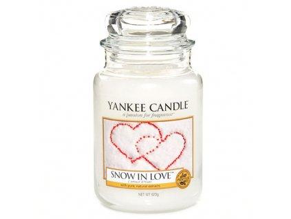 Yankee Candle Zamilovaný sníh, 623 g classic velký