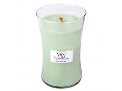 Svíčka oválná váza WoodWick Vrba a mech 609.5 g