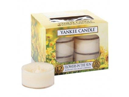 Yankee Candle čajové svíčky Květiny na slunci 12 x 9,8 g