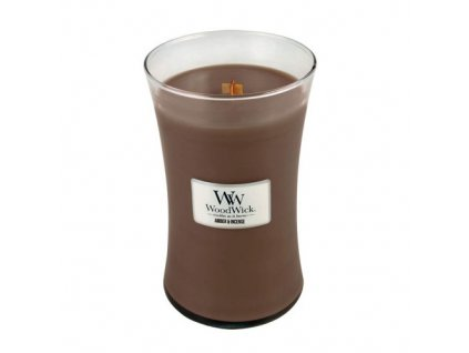 Svíčka oválná váza WoodWick Ambra a kadidlo 609.5 g