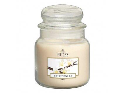 Svíčka ve skleněné dóze Price´s Candles Sladká vanilka 411 g