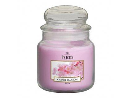 Svíčka ve skleněné dóze Price´s Candles Třešňový květ 411 g
