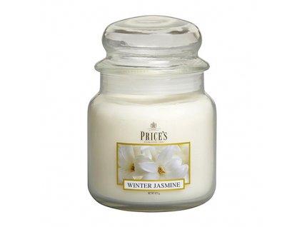 Svíčka ve skleněné dóze Price´s Candles Zimní jasmín 411 g