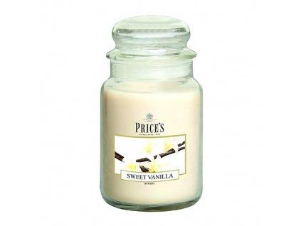 Svíčka ve skleněné dóze Price´s Candles Sladká vanilka 630 g