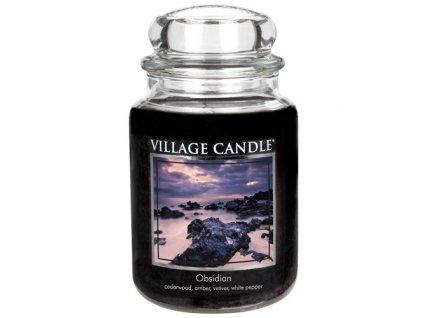 Svíčka Village Candle 737g, Tajemný obsidián