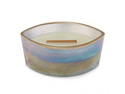 Svíčka dekorativní váza WoodWick Fíkový list a tuberóza, perleť se zlatým lemem 453,6 g