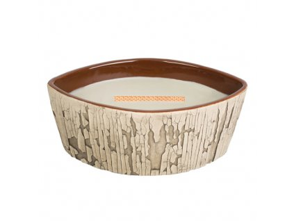 Svíčka Woodwick keramická váza Oheň v krbu 425,2 g