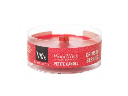 Svíčka WoodWick petite Červená jeřabina, 31 g