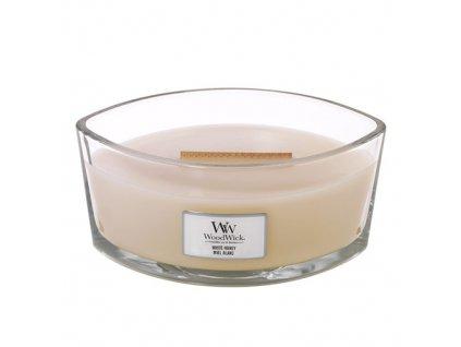 Svíčka dekorativní váza WoodWick Bílý med 453.6 g