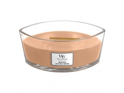 Svíčka dekorativní váza WoodWick Zlaté mléko 453.6
