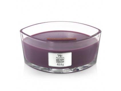 Svíčka dekorativní váza WoodWick Tmavý mák 453,6 g