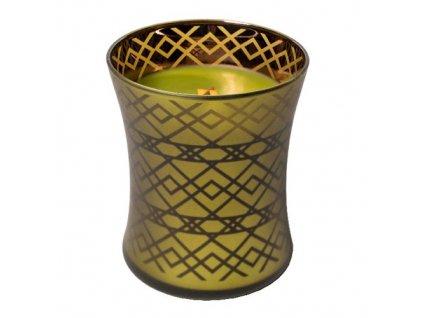 Svíčka oválná váza WoodWick Košík jablek sváteční, 275 g