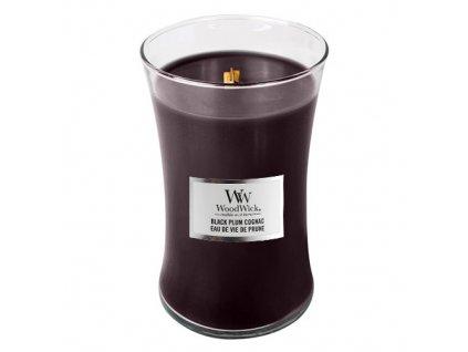 Svíčka oválná váza WoodWick Koňak z černých švestek, 609.5 g